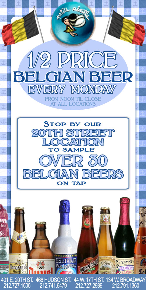 1/2 price beer