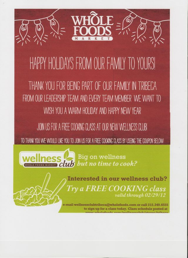 Whole Foods Harlem Coupon