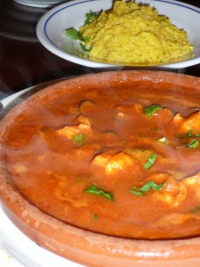 Shrimp Tajine with Yellow Rice @ Kiosk