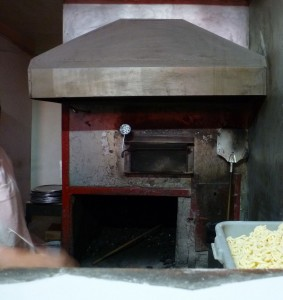 Patsy's coal burning pizza oven