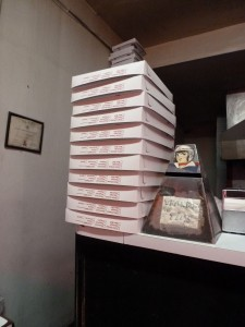 Pizza Boxes at Patsy's