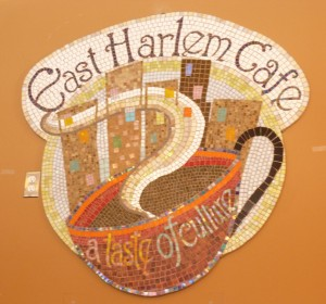 East Harlem Cafe Mosaic Sign