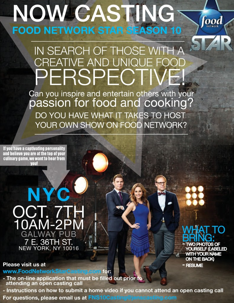 Casting For The Next Food Network Star