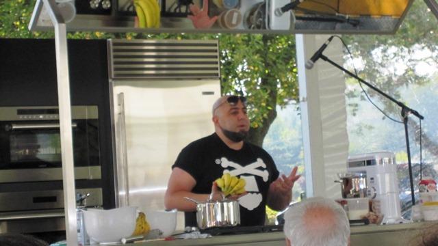 Duff Goldman making Banana Foster